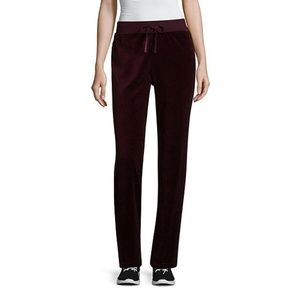 St Johns Bay Active Velour Pull On Petite Pant New
